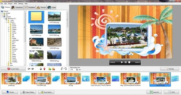 Photo Slideshow Creator interface