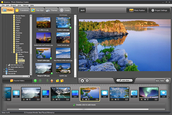 Put your digital memories in motion with professional photo slideshow software affordable Screen Shot